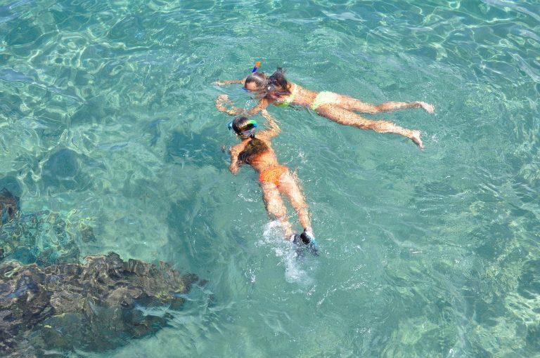 snorkeling, water, bright